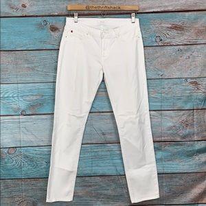 Hudson White Nico Skinny Jeans Size 28